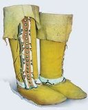 *Plains Indian Buckskin Boot Pattern