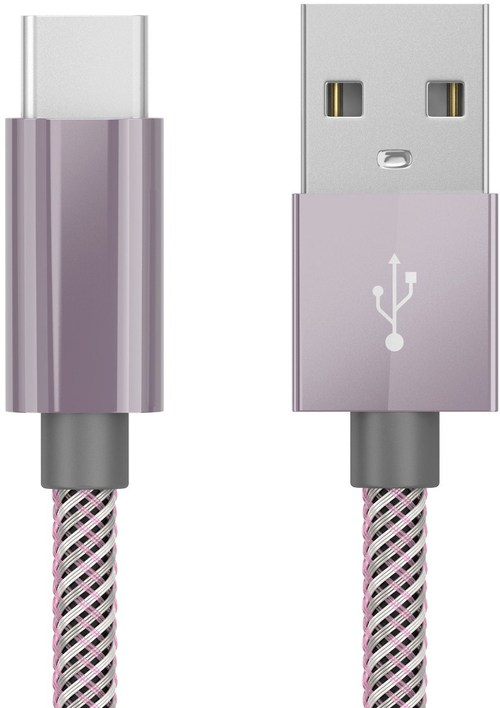 Just Wireless 705954051626 6 Feet Usb Type-c To Usb Braided Charging Cable - Orchid Gray