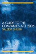 An easy to use guide to the Companies Act 2006and packed full of helpful features, this book provides detailed commentary on the new Companies Act.Offering a chapter by chapter analysis of the legal and practical implications of the Act, the author traces the background to the act, considering the various Consultation Documents and White Papers issued by the Government, the proposals for company law reform and their culmination in the Company Law Reform Act.It contains:helpful checklists for the busy practitionersection by section commentaryuseful appendices of materials and extracts on an accompanying Companion Website.This is an invaluable and handy resource for undergraduate students and practitioners studying or working in business and company law.
