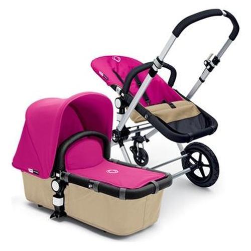 Bugaboo Cameleon Stroller - Sand Base - Pink Canvas