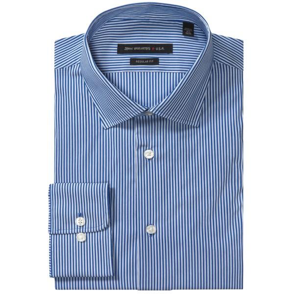 John Varvatos Star USA Stripe Dress Shirt - Regular Fit, Stretch Cotton Blend (For Men)