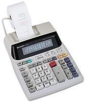 Sharp El1801v 12-digit 2-color 2.1 Lps (lines Per Second) Serial Printing Calculator
