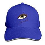 Grass8 Cartoon Beauty Big Eyes Snapback Sandwich Cap Unisex Black Baseball Cap Hats Adjustable Peaked Trucker Cap One Size Royalblue