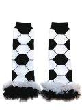Rush Dance Team Colors European Soccer Baby/ Toddler Leg Warmers (One Size, Black & White)