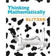Thinking Mathematically plus MyMathLab/MyStatLab/MyStatLab Student Access Code Card