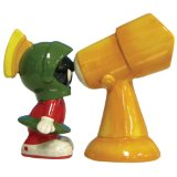 Westland Giftware Looney Tunes Magnetic Marvin the Martian and Telescope-Inch Salt and Pepper Shaker Set, 3-3/4-Inch