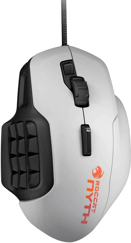 Roccat Nyth - Modular Mmo Gaming Mouse - Laser - Cable - White - Usb 2.0 - 12000 Dpi - 18 Button(s)