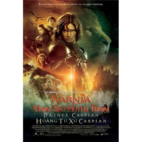 The Chronicles of Narnia: Prince Caspian Poster Movie Vietnamese B 27 x 40 In - 69cm x 102cm Liam Neeson Warwick Davis Ben Barnes Peter Dinklage