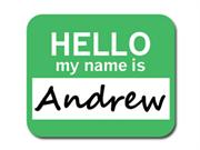 Andrew Hello My Name Is Mousepad Mouse Pad