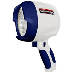 Brinkmann 800-5000-1 Q-Beam LED Marine Rechargeable Spotlight - White-Blue
