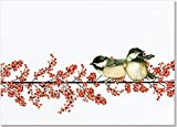 Winterberry & Chickadees Deluxe Boxed Holiday Cards (Christmas Cards, Holiday Cards, Greeting Cards)