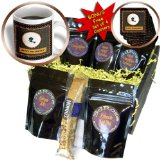 cgb_167435_1 Beverly Turner Thanksgiving Design - Little Witch Flying Across Moon, Trick or Treat, Dots, Happy Halloween - Coffee Gift Baskets - Coffee Gift Basket