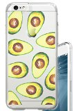 iPhone 6S PLUS Case 5.5 inch Avocado Guac Guacamole Food Foodie Funny Fruit Clear Translucent Transparent Unique Design Pattern Cover For iPhone 6S PLUS also fits iPhone 6 PLUS