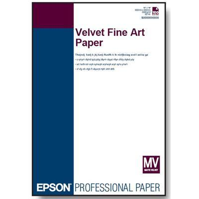 Epson S041636 Fine Art - Velvet - Letter A Size (8.5 In X 11 In) - 260 G/m² - 20 Sheet(s) Paper - For Stylus Pro 38xx  Pro 4800  Pro 7800  Pro 9800  Stylus Phot