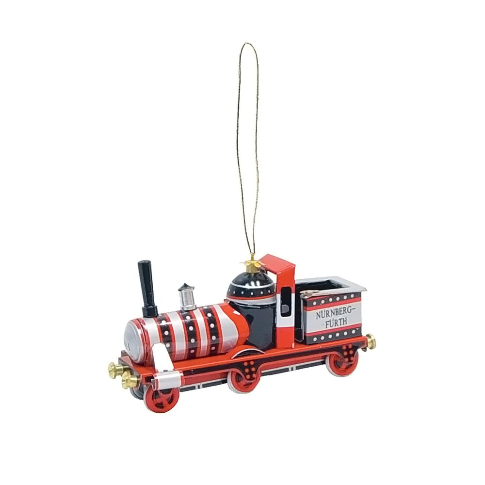 Collectible Tin Ornament - Red Train - 1