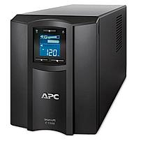 The APC Smart UPS C SMC1500 Line interactive UPS Smart UPS C 1500 VA with LCD is a 900 W out, 120 V in UPS  uninterruptible power supply  with an USB interface port, multifunction LCD status and control console and 8x battery powered outlets