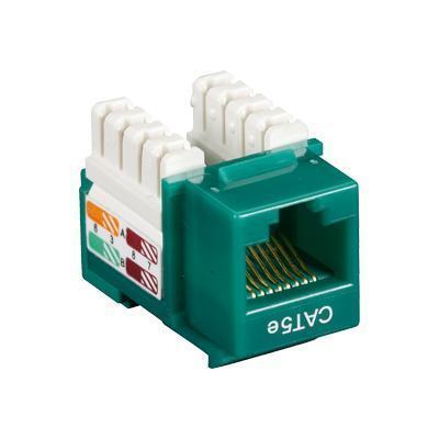 Black Box Cat5ej-gn-25pak Value Line Cat5e - Modular Insert - Rj-45 - Green (pack Of 25 )