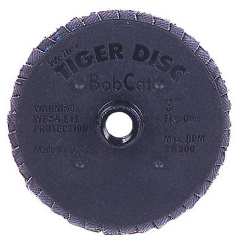 "Bobcat Flat Style Flap Discs - 3"" 80grit abrasive tiger disk (Set of 10)"