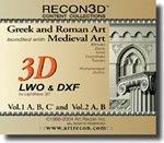 RECON3D Vol.1 & 2 Bundle: Greek, Roman, Medieval Art, 3D Content Collection (LWO , DXF Formats for Lightwave 3D)