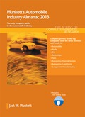 PLUNKETT'S AUTOMOBILE INDUSTRY ALMANAC 2013Key Features:•Industry trends analysis, market data and competitive intelligence•Market forecasts and Industry Statistics•Industry Associations and Professional Societies List•In-Depth Profiles of hundreds of leading companies•Industry Glossary•Buyer may register for access to search and export data at Plunkett Research OnlinePages: 533Statistical Tables Provided: 20Companies Profiled: 365Geographic Focus: GlobalA complete market research report, including forecasts and market estimates, technologies analysis and developments at innovative firms