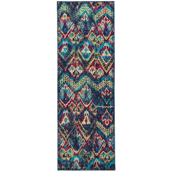 "Momeni Vintage Distressed Floor Runner - New Zealand Wool, 2'7""x7'9"""