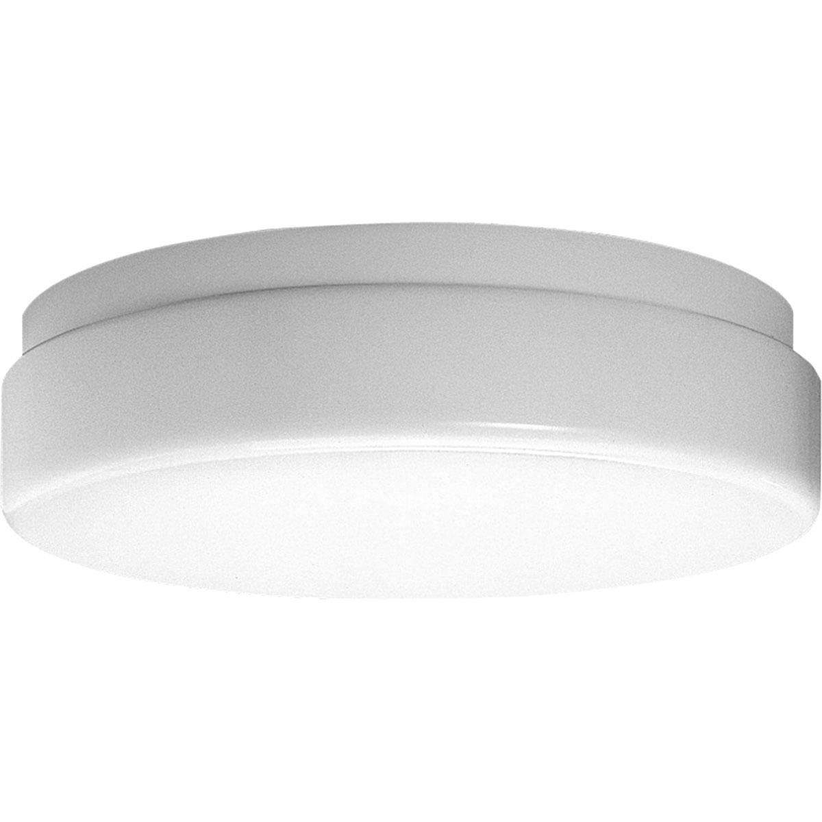 Progress P7373-30 One-light close-to-ceiling in White finish with white acrylic glass.