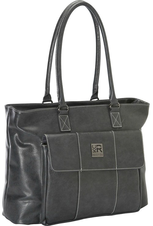 Kenneth Cole Reaction 539228 Casual Fling Lets Compare Tote For 16-inch Laptops - Charcoal