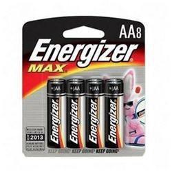 Energizer E91BP-8 AA Size Alkaline General Purpose Battery - AA - Alkaline - 1.5 V DC