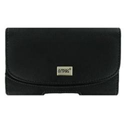 EMPIRE Canon Powershot S95 Horizontal Leather Case Pouch (Black) [EMPIRE Packaging]