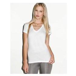 Bella Ladies 4.2 oz. Jersey Deep V-Neck T-Shirt - Athletic Heather