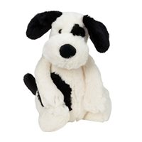 Cream & Black Puppy  By Jellycat