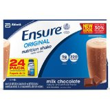 Ensure High Protein Complete Balanced Nutrition, Institutional Use Creamy Milk Chocolate Shake - 8 Oz, 24/case