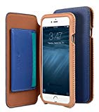"Melkco Premium Leather Case Azteca Series for Apple iPhone 6s Plus / 6 Plus 5.5"" Case - Book Type (Blue)"