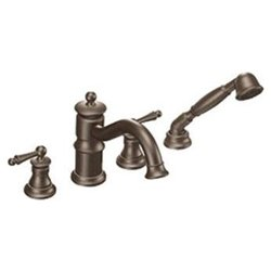 Waterhill Roman Tub Faucet with Built-in Hand Shower Diverter in Oil Rubbed Bronze