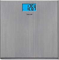Taylor 077784012956 Precision Stainless Steel Bath Scale With 1.5-inch Lcd Display