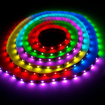 Plug&Play RGB 12v LED Flexible COLOUR CHANGING 5050 SMD Strip Light 5 metres / 300 LED's   12v 6A Power Supply - COLOURS & EFFECTS VIA 24 KEYS WIRELESS CONTROLLER ** GARDENS, HOMES, NIGHTCLUBS, KITCHENS, BARS, ETC **
