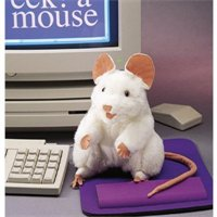 White Mouse Puppet By Folkmanis