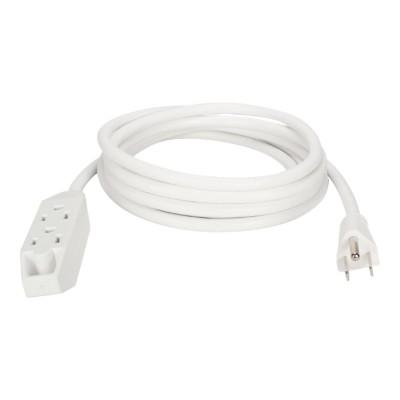 Qvs Pc3px-10wh Power Extension Cord - Power Strip - Ac 125 V - 1625 Watt - Input: Nema 5-15p - Output Connectors: 3 (nema 5-15) - 10 Ft - White
