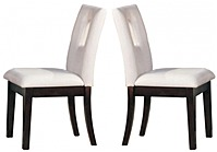 Acme 840412100338 10033 2-pack Side Chairs -  Bethany Espresso Wood - White