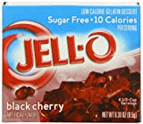 Jell-O Sugar-Free Gelatin Dessert, Black Cherry, 0.30-Ounce Boxes (Pack of 24)