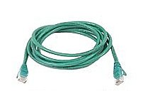 The Belkin A3L791 07 GRN S Network Cable features 7 foot Category 5E with standard male RJ 45 connectors