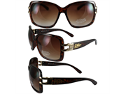 Birdz Ibis Womens Glasses With Tortoise Frame And Gold Trim With Gradient Brown Lenses