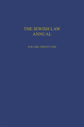 Jewish Law Annual Volume 21