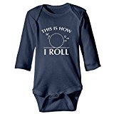 Comind Funny Math Science Physics Baby Girls' Cotton Long-Sleeve Bodysuit Romper Tank Tops 6 M