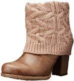 Muk Luks Women's Chris Knit Cuff Chunky Sole Boot, Mocha Mousse, 9 M US