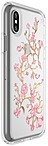 """Speck Presidio Clear   Print Case - Iphone X - Golden Blossoms Pink, Clear - Embedded - Polycarbonate, Impactium - 96"""" Drop Height 103136-5754"""