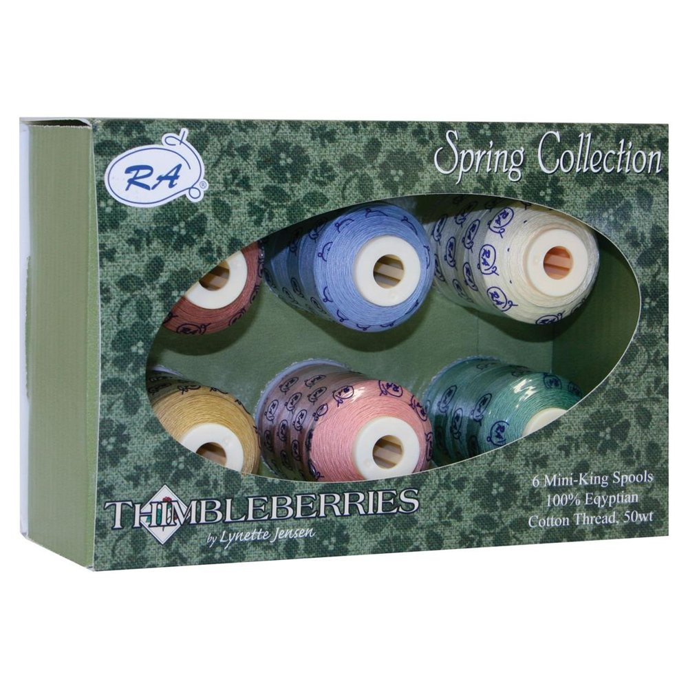 Thimbleberries Cotton Thread Collections 500 Yards 6/Pkg-Spring