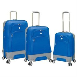 Travelers Club Barcelona Collection 3-Piece EVA Spinner Luggage Set - Blue