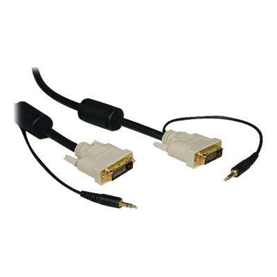 Tripplite P560-006-a Dvi Dual Link Cable With Audio Digital Tmds Monitor Cable Dvi-d And 3.5mm - Display / Audio Cable - Dual Link - Mini-phone Stereo 3.5 Mm