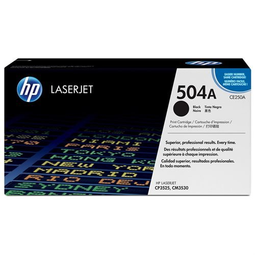 HP 504A (CE250AG) Black Original LaserJet Toner Cartridge for US Government - Laser - 5000 Page - 1 Each
